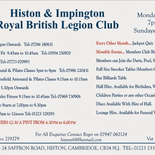 Histon & Impington Royal British Legion