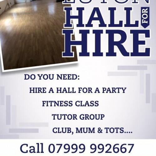 Hall for hire luton