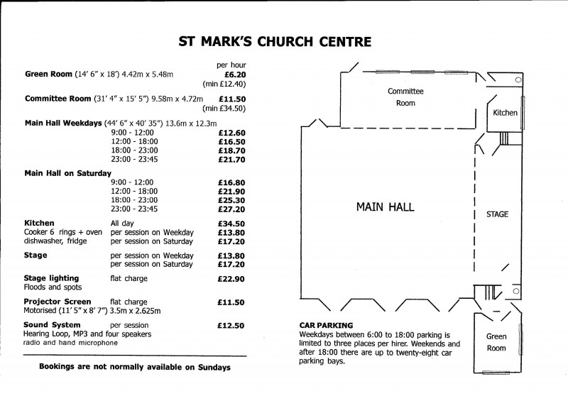St Mark's Church Centre